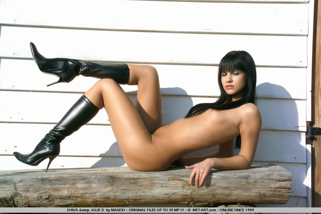 Naked Women Wearing Leather Boots