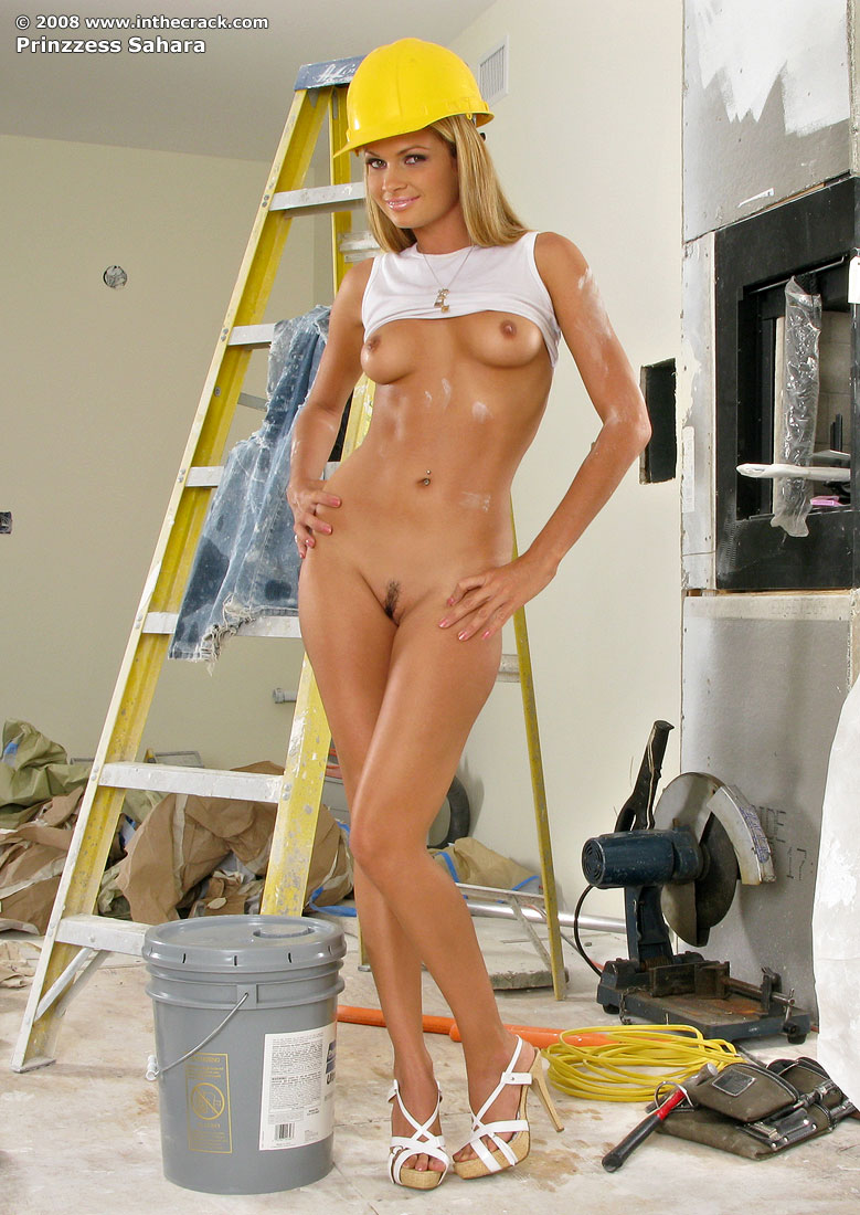Hot sexy girl construction worker something is