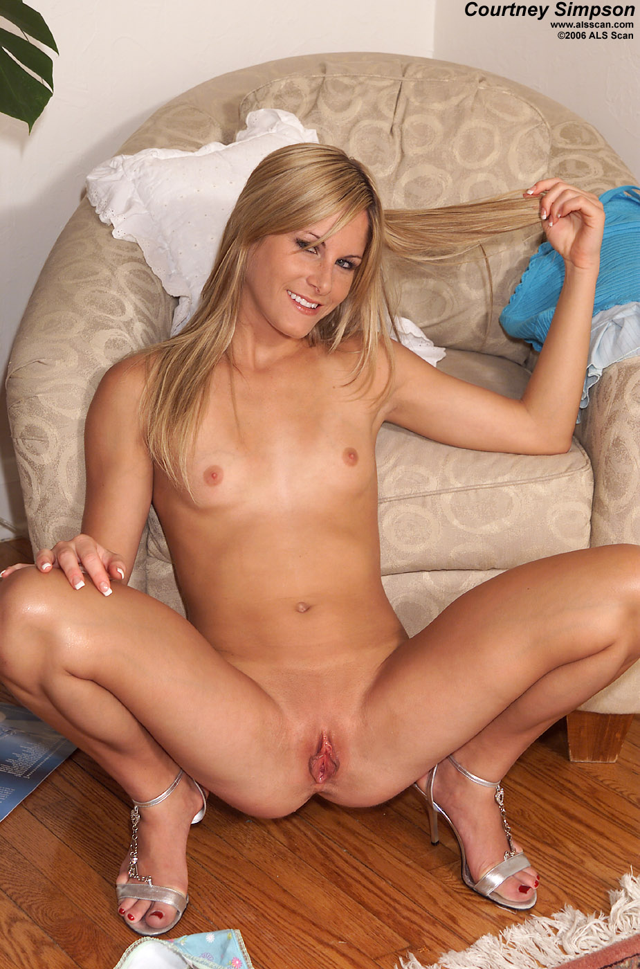 Courtney Simpson Spread Pussy