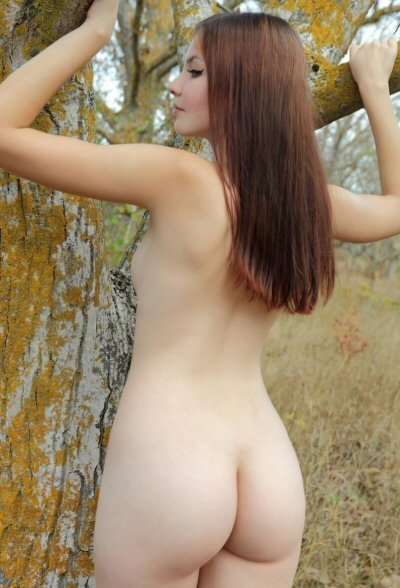 Delicate Skin Ass In Forest