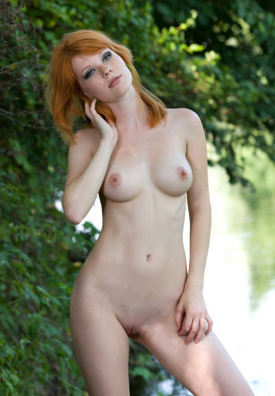 Mia Sollis by the river