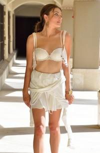 Adria Rae slender in white