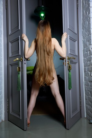 Russian girl with long hair