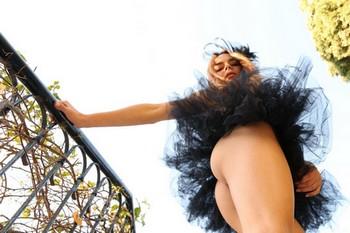 Debora A Kelly in ballet tutu and nude