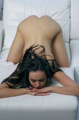 Nasita gets nude on couch