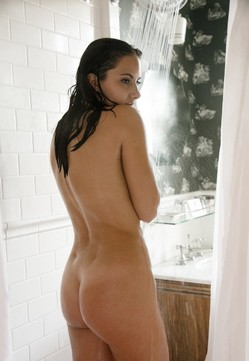 Paula Swenson in the shower